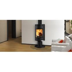 Piecyk na drewno Andorra Exclusive obrotowy czarny - Thorma 7,5kW