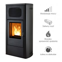 Piecyk na pelet Primula Air 9,5 kW - Red
