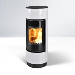 Piecyk na drewno Atika kafel biały Extra - Thorma 7,5kW