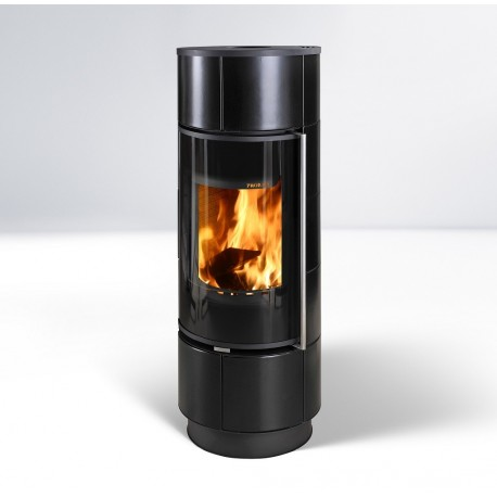 Piecyk na drewno Atika kafel czarny mat Extra  - Thorma 7,5kW