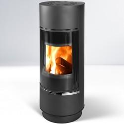 Piecyk na drewno Atika Steel czarna - Thorma 7,5kW